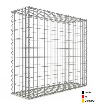 Gabion 100 x 90 x 30 cm - Qualité Made in Germany - Mailles Rectangulaires 5 x 10cm - GabionDeco®
