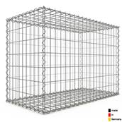 Gabion 100 x 70 x 50 cm - Qualité Made in Germany - Mailles Rectangulaires 5 x 10cm - GabionDeco®