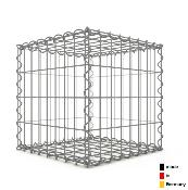 Gabion 40 x 40 x 40 cm - Qualité Made in Germany - Mailles Rectangulaires 5 x 10 cm - GabionDeco®