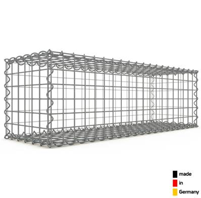 Gabion 100 x 30 x 30 cm - Qualité Made in Germany - Mailles Carrées 5 x 5 cm - GabionDeco®