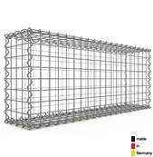 Gabion 100 x 40 x 20 cm - Qualité Made in Germany - Mailles Carrées 5 x 5 cm - GabionDeco®