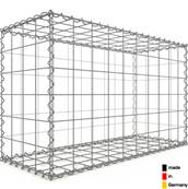 Gabion 100 x 60 x 40 cm - Qualité Made in Germany - Mailles Carrées 10 x 10 cm - GabionDeco®