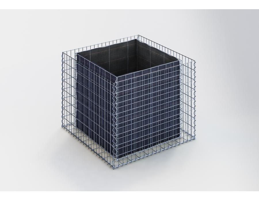 jardini re gabion longueur 100 cm gabion bac fleur. Black Bedroom Furniture Sets. Home Design Ideas