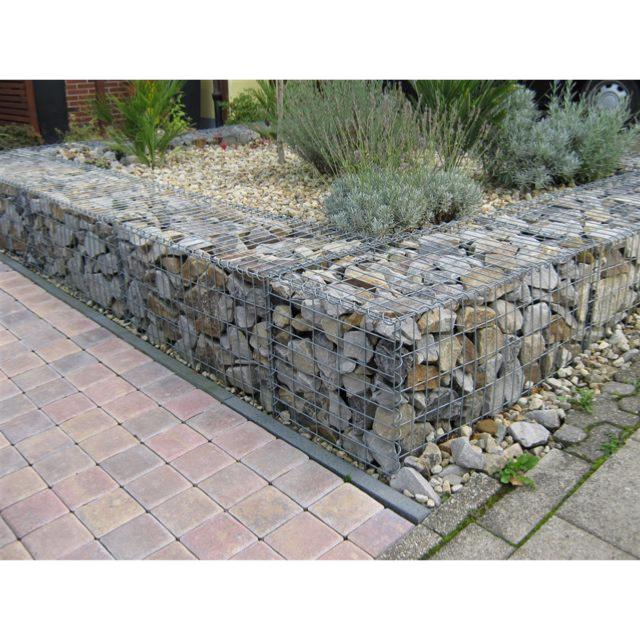gabion deco gabion wall with back of gabions filled with concrete front face hand stacked rocks. Black Bedroom Furniture Sets. Home Design Ideas