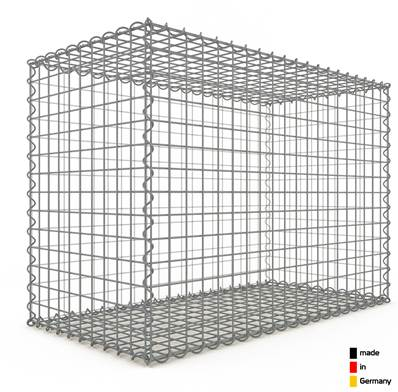 Gabion 100 x 70 x 50 cm - Qualité Made in Germany - Mailles Carrées 5 x 5 cm - GabionDeco®