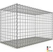 Gabion 100 x 60 x 50 cm - Qualité Made in Germany - Mailles Carrées 5 x 5 cm - GabionDeco®