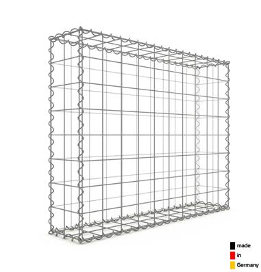 Gabion 100 x 80 x 20 cm - Qualité Made in Germany - Mailles Carrées 10 x 10 cm - GabionDeco®
