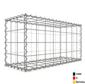 Gabion 80 x 40 x 30 cm - Qualité Made in Germany - Mailles Carrées 10 x 10 cm - GabionDeco®