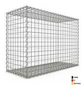 Gabion 100 x 70 x 40 cm - Qualité Made in Germany - Mailles Carrées 5 x 5 cm - GabionDeco®