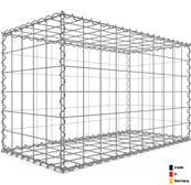 Gabion 100 x 60 x 50 cm - Qualité Made in Germany - Mailles Carrées 10 x 10 cm - GabionDeco®