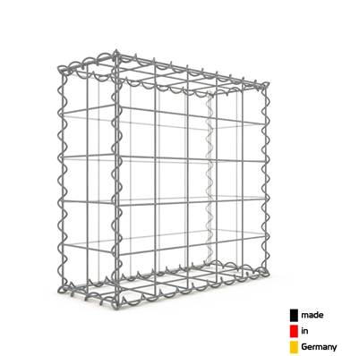 Gabion 50 x 50 x 20 cm - Qualité Made in Germany - Mailles Carrées 10 x 10 cm - GabionDeco®