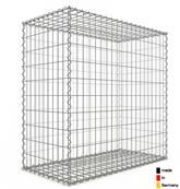 Gabion 100 x 100 x 50 cm - Qualité Made in Germany - Mailles Rectangulaires 5 x 10cm - GabionDeco®