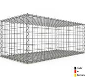Gabion 100 x 40 x 50 cm - Qualité Made in Germany - Mailles Carrées 5 x 5 cm - GabionDeco®