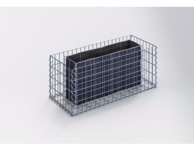 GabionDeco® - Jardinière Gabion 100 x 40 x 40 cm - Made in Germany - Mailles Rectangulaires 5 x 10 cm