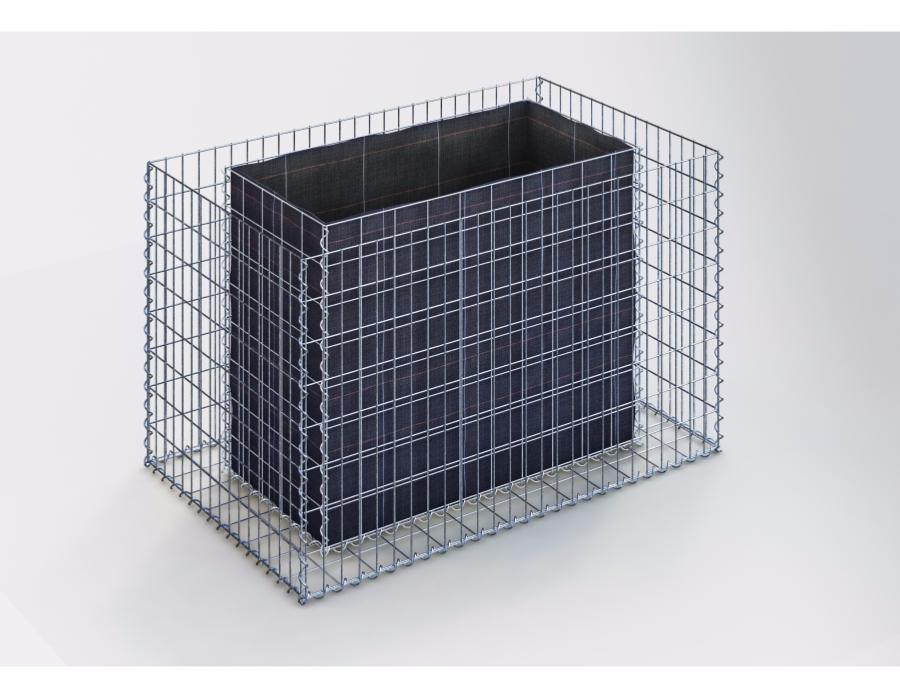jardiniere gabion 130 x 80 x 80 cm. Black Bedroom Furniture Sets. Home Design Ideas