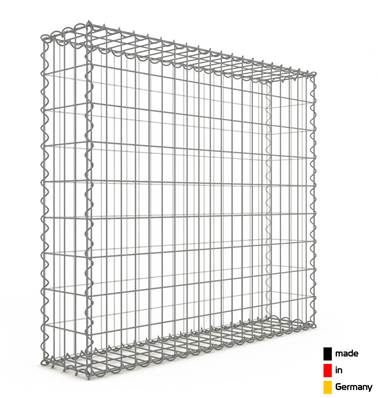 Gabion 100 x 90 x 20 cm - Qualité Made in Germany - Mailles Rectangulaires 5 x 10cm - GabionDeco®