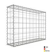Gabion 100 x 70 x 20 cm - Qualité Made in Germany - Mailles Carrées 10 x 10 cm - GabionDeco®