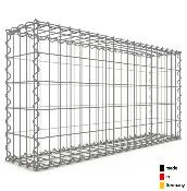 Gabion 100 x 50 x 20 cm - Qualité Made in Germany - Mailles Rectangulaires 5 x 10 cm - GabionDeco®