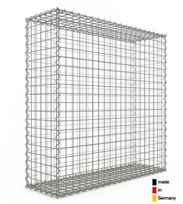 Gabion 100 x 100 x 30 cm - Qualité Made in Germany - Mailles Carrées 5 x 5 cm - GabionDeco®