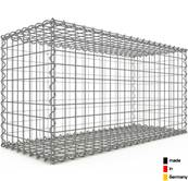 Gabion 100 x 50 x 40 cm - Qualité Made in Germany - Mailles Carrées 5 x 5 cm - GabionDeco®