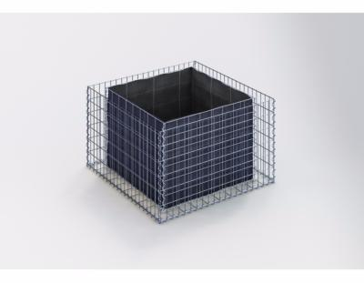 GabionDeco® - Jardinière Gabion 100 x 60 x 100 cm - Made in Germany - Mailles Rectangulaires 5 x 10 cm