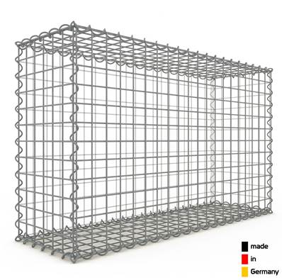 Gabion 100 x 60 x 30 cm - Qualité Made in Germany - Mailles Carrées 5 x 5 cm - GabionDeco®