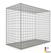 Gabion 100 x 80 x 50 cm - Qualité Made in Germany - Mailles Carrées 5 x 5 cm - GabionDeco®