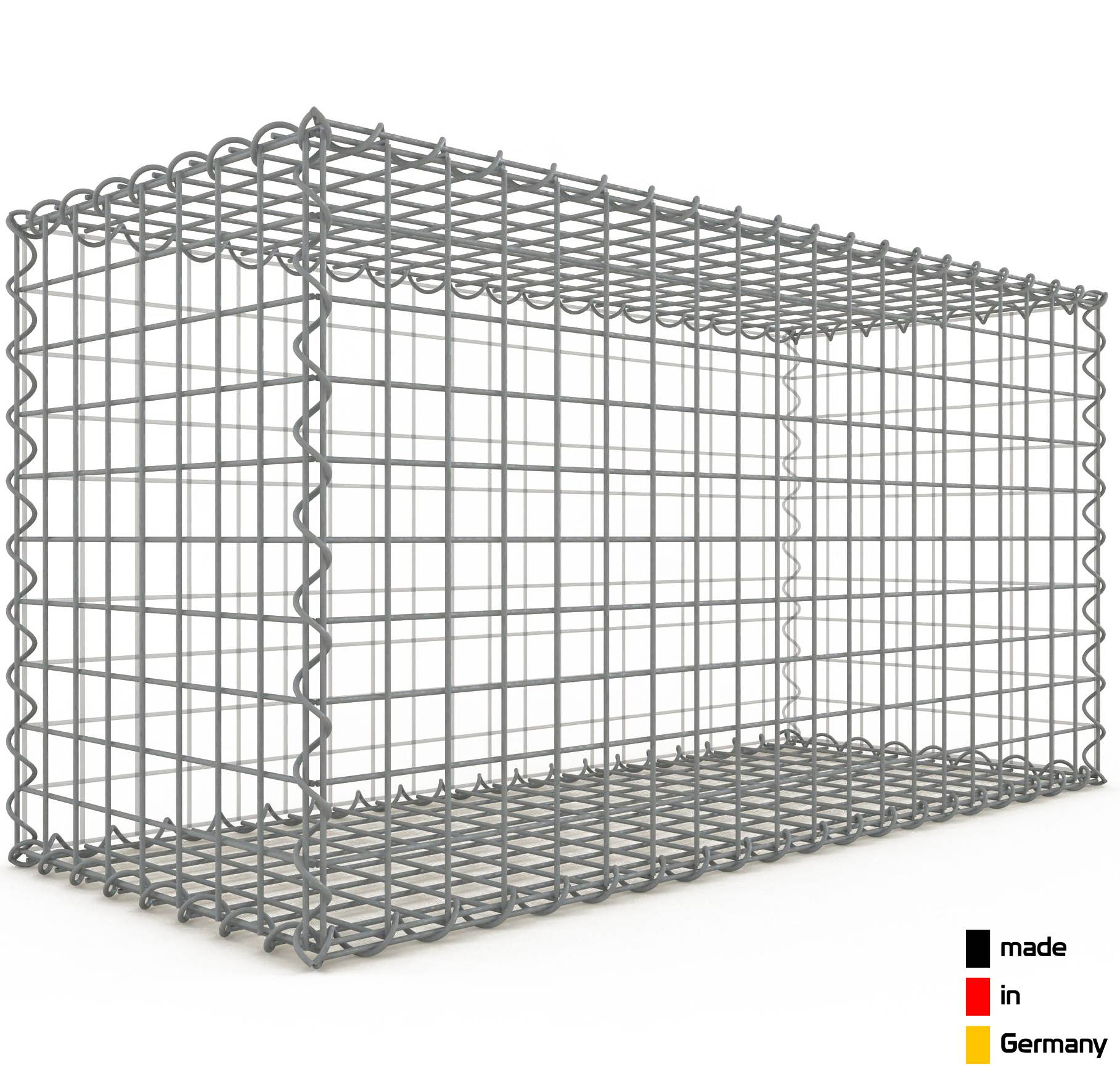 gabion 100x50x40cm mailles carr es 5x5cm. Black Bedroom Furniture Sets. Home Design Ideas