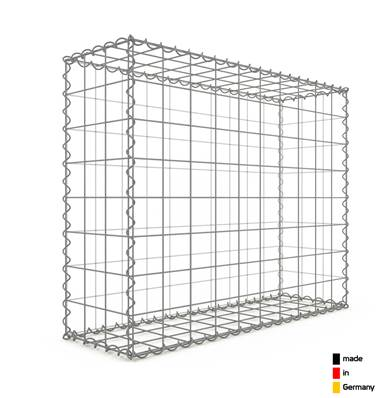 Gabion 100 x 80 x 30 cm - Qualité Made in Germany - Mailles Carrées 10 x 10 cm - GabionDeco®
