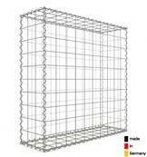 Gabion 100 x 100 x 30 cm - Qualité Made in Germany - Mailles Carrées 10 x 10 cm - GabionDeco®