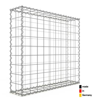Gabion 100 x 90 x 20 cm - Qualité Made in Germany - Mailles Carrées 10 x 10 cm - GabionDeco®