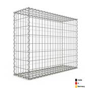 Gabion 100 x 80 x 30 cm - Qualité Made in Germany - Mailles Rectangulaires 5 x 10cm - GabionDeco®
