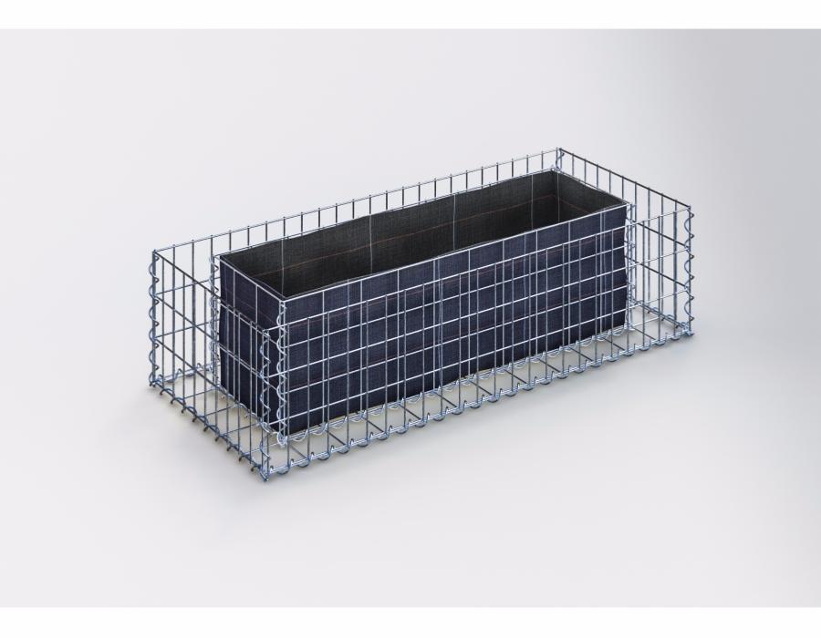 jardiniere gabion 120 x 30 x 50 cm. Black Bedroom Furniture Sets. Home Design Ideas