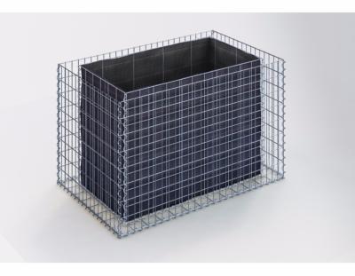 jardiniere gabion 130 x 80 x 80 cm. Black Bedroom Furniture Sets. Home Design Ideas