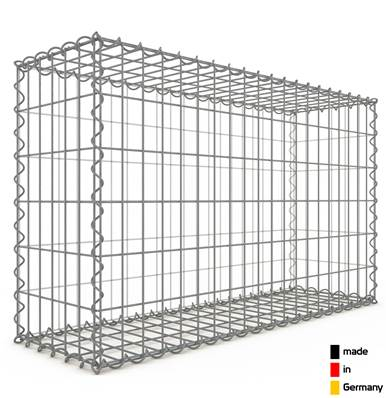 Gabion 100 x 60 x 30 cm - Qualité Made in Germany - Mailles Rectangulaires 5 x 10 cm - GabionDeco®