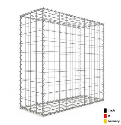 Gabion 100 x 100 x 40 cm - Qualité Made in Germany - Mailles Carrées 10 x 10 cm - GabionDeco®