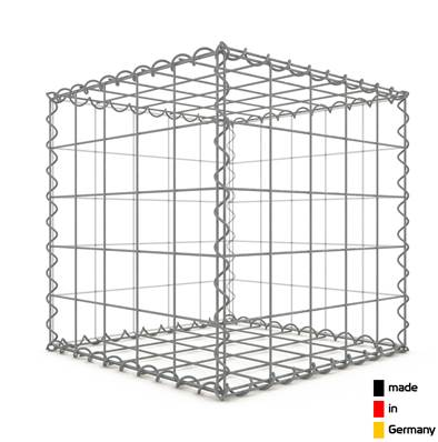 Gabion 50 x 50 x 50 cm - Qualité Made in Germany - Mailles Carrées 10 x 10 cm - GabionDeco®