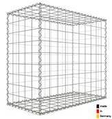 Gabion 100 x 90 x 50 cm - Qualité Made in Germany - Mailles Carrées 10 x 10 cm - GabionDeco®