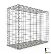 Gabion 100 x 80 x 40 cm - Qualité Made in Germany - Mailles Carrées 5 x 5 cm - GabionDeco®