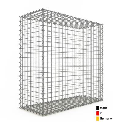 Gabion 100 x 100 x 40 cm - Qualité Made in Germany - Mailles Carrées 5 x 5 cm - GabionDeco®