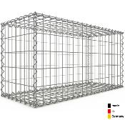 Gabion 100 x 50 x 40 cm - Qualité Made in Germany - Mailles Rectangulaires 5 x 10 cm - GabionDeco®