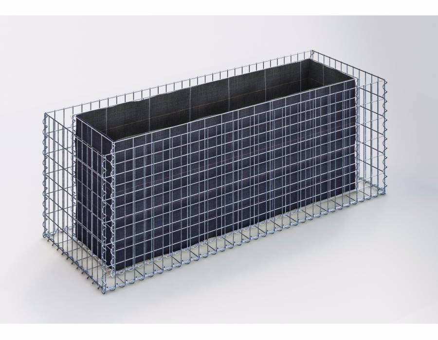 jardiniere gabion 170 x 60 x 60 cm. Black Bedroom Furniture Sets. Home Design Ideas