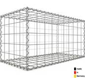 Gabion 100 x 50 x 50 cm - Qualité Made in Germany - Mailles Carrées 10 x 10 cm - GabionDeco®