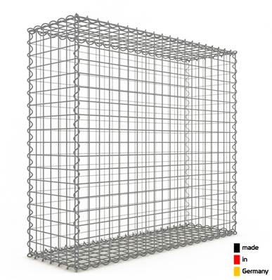 Gabion 100 x 90 x 30 cm - Qualité Made in Germany - Mailles Carrées 5 x 5 cm - GabionDeco®