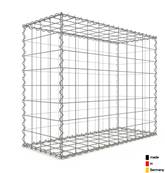 Gabion 100 x 80 x 40 cm - Qualité Made in Germany - Mailles Carrées 10 x 10 cm - GabionDeco®