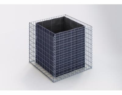 GabionDeco® - Jardinière Gabion 100 x 90 x 100 cm - Made in Germany - Mailles Rectangulaires 5 x 10 cm