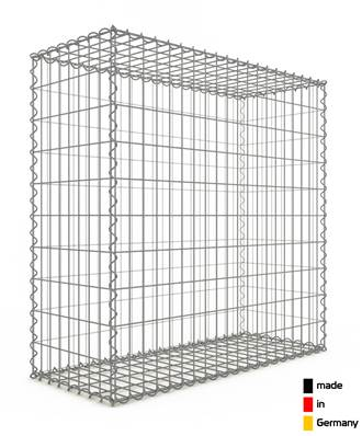Gabion 100 x 100 x 40 cm - Qualité Made in Germany - Mailles Rectangulaires 5 x 10cm - GabionDeco®