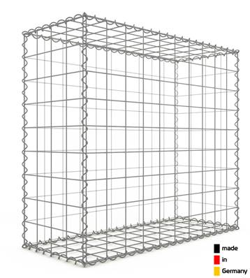 Gabion 100 x 90 x 40 cm - Qualité Made in Germany - Mailles Carrées 10 x 10 cm - GabionDeco®