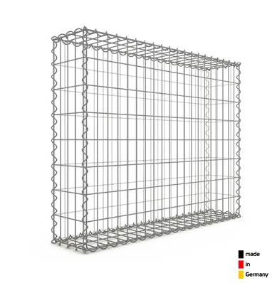 Gabion 100 x 80 x 20 cm - Qualité Made in Germany - Mailles Rectangulaires 5 x 10cm - GabionDeco®