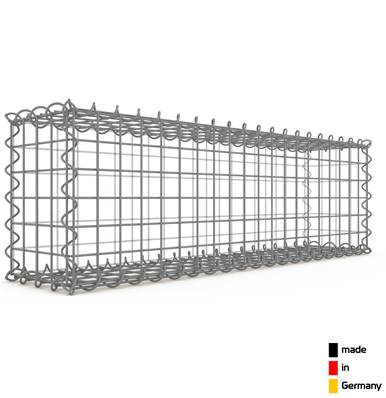 Gabion 100 x 30 x 20 cm - Qualité Made in Germany - Mailles Carrées 5 x 5 cm - GabionDeco®
